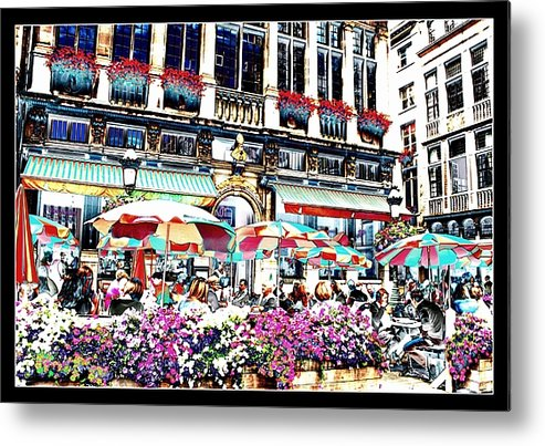 Brussels Metal Print featuring the photograph Sunny Day On The Grand Place by Carol Groenen