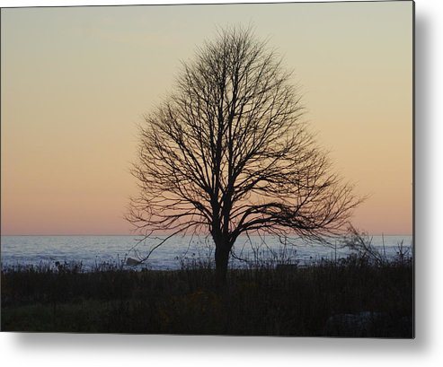 Ocean Metal Print featuring the photograph Sunset At Ordiorne by Lois Lepisto