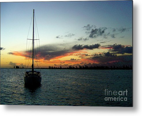 Sunset Metal Print featuring the photograph Sunset Over Anegada by Sergio Geraldes