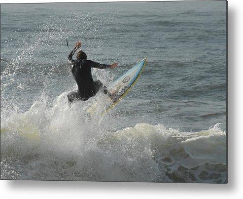 Surfer Art Metal Print featuring the photograph Surfing 65 by Joyce StJames