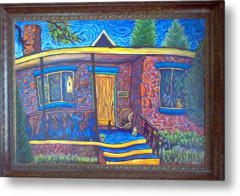 Landscape Metal Print featuring the painting Susan's House 2 by Steve Lawton