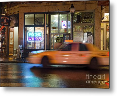 Fore Street Metal Print featuring the photograph Taxi Cab, Portland, Maine -17754 by John Bald