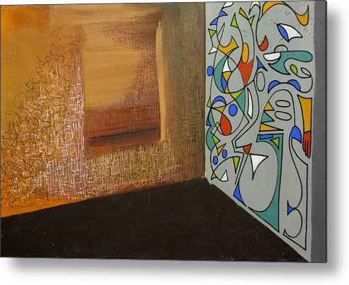 Abstract Metal Print featuring the painting The Apartment by David McKee