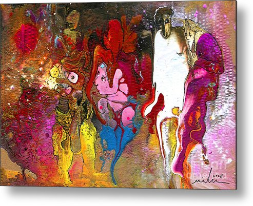 Miki Metal Print featuring the painting The First Wedding by Miki De Goodaboom