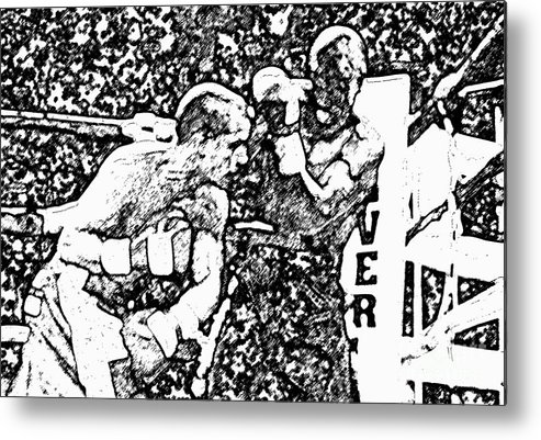 Prize Fighting.boxing Metal Print featuring the photograph The Follow Through by David Lee Thompson