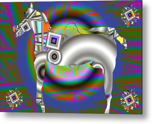 Digital Art Metal Print featuring the print The Horse by Yucel Donmez