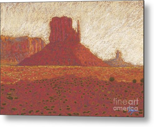 Deserts Artwork Metal Print featuring the drawing The Right Mitten by Suzie Majikol Maier