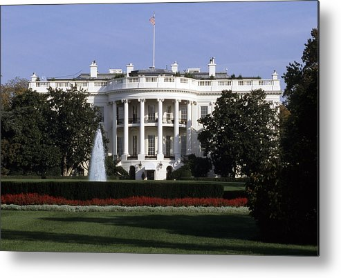 District Of Columbia Metal Print featuring the photograph The South Side Of The White House by Taylor S. Kennedy