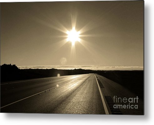 Road Metal Print featuring the photograph The Way Back Home by Ellen Cotton