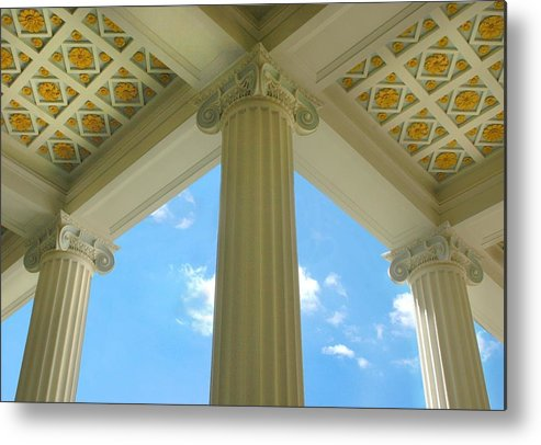 Archetecture Metal Print featuring the photograph Three Columns by Dan Holm