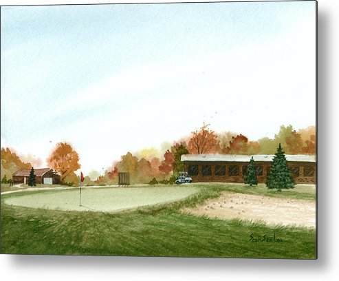 Golf Metal Print featuring the painting Tom's Golf Course by Sean Seal