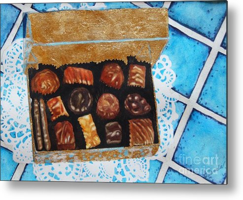 Candy Metal Print featuring the painting Treasure Chest by Gail Zavala