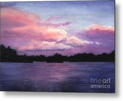 Landscape Metal Print featuring the painting Trout Lake Sunset I by Lynn Quinn