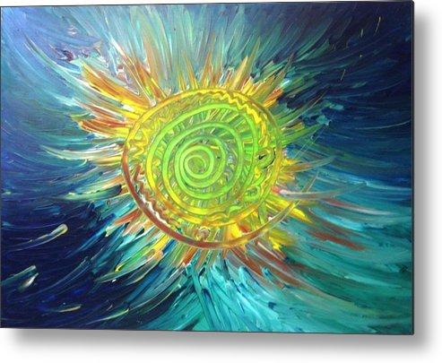 Sun Metal Print featuring the painting Tsunami Sun by Bryan Zingmark