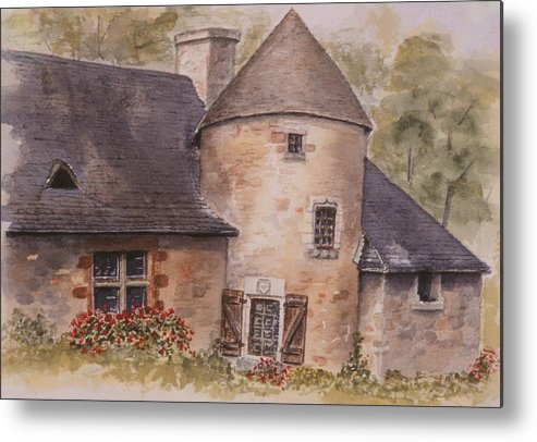 Watercolor Metal Print featuring the painting Turenne by Mary Ellen Mueller Legault