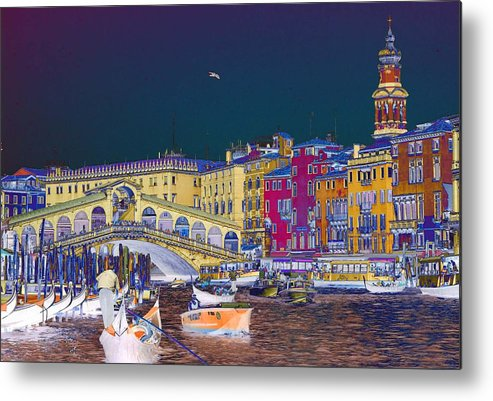 Venice Metal Print featuring the photograph Venice Canal by Charles Ridgway