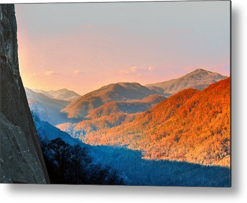 Landscape Metal Print featuring the photograph View From Chimney Rock-north Carolina by Steve Karol