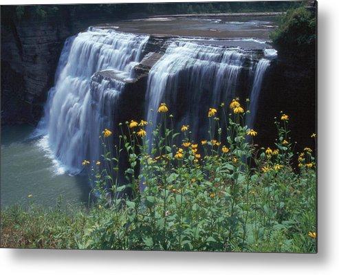 Waterfalls Metal Print featuring the photograph Water Falls by Raju Alagawadi