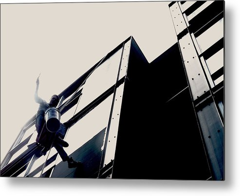 Window Washer Metal Print featuring the photograph Waving Window Washer by Leah Stark