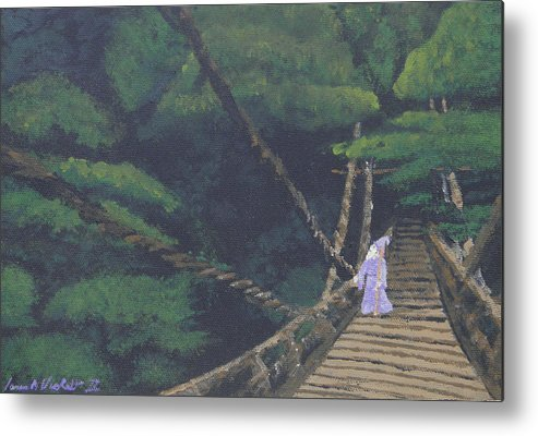 Fantasy Metal Print featuring the painting Wizards Walk by James Violett II