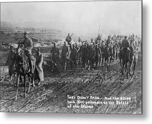 1918 Metal Print featuring the photograph World War I: German Pows by Granger