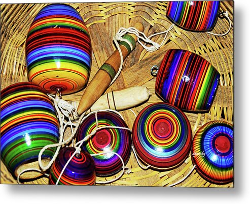 Colorful Metal Print featuring the photograph Yo Yos 7881 by David Mosby