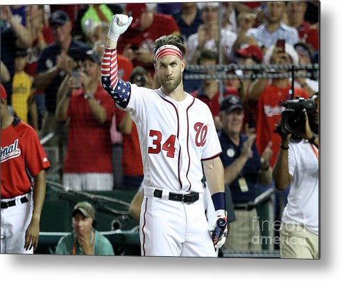Three Quarter Length Metal Print featuring the photograph T-mobile Home Run Derby 1 by Rob Carr