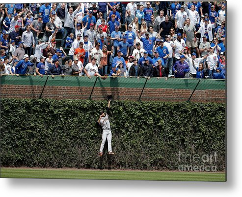 People Metal Print featuring the photograph San Francisco Giants V Chicago Cubs 2 by Jon Durr