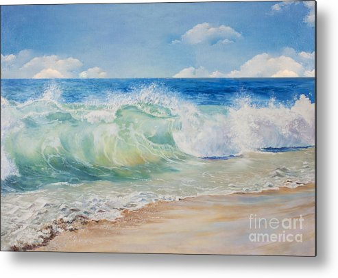 Beauty Metal Print featuring the digital art Beautiful, Blue, Tropical Sea And Beach by Elzza