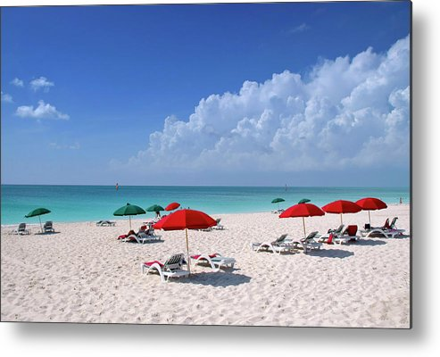 Ocean Metal Print featuring the photograph Caribbean Blue by Stephen Anderson