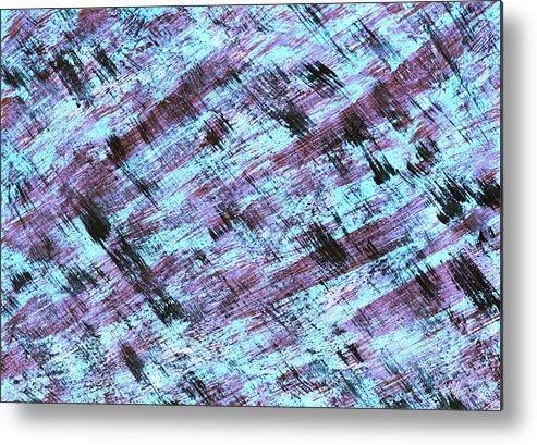 Abstract Metal Print featuring the painting Cautious 2 by Bella Reyna