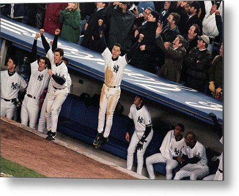 Celebration Metal Print featuring the photograph Derek Jeter 2 by Jamie Squire