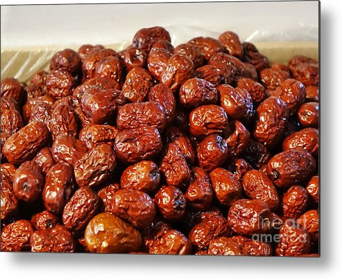 China Metal Print featuring the photograph Dried Chinese Red Dates by Yali Shi