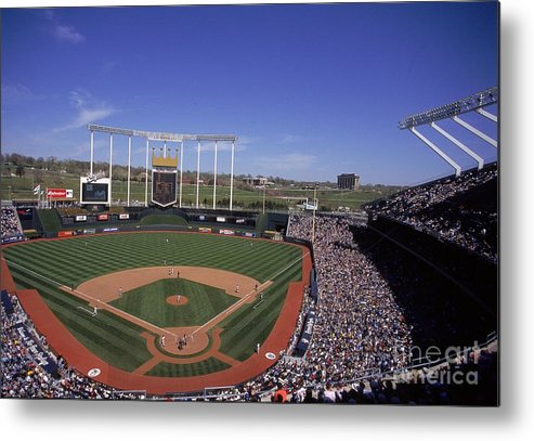 American League Baseball Metal Print featuring the photograph General View by Matthew Stockman