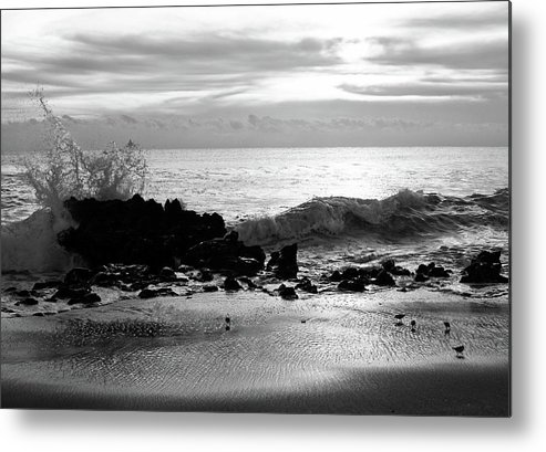 Cove Metal Print featuring the photograph Stormy Sea 2 by Steve DaPonte