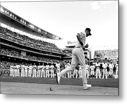 People Metal Print featuring the photograph Derek Jeter by Rob Carr