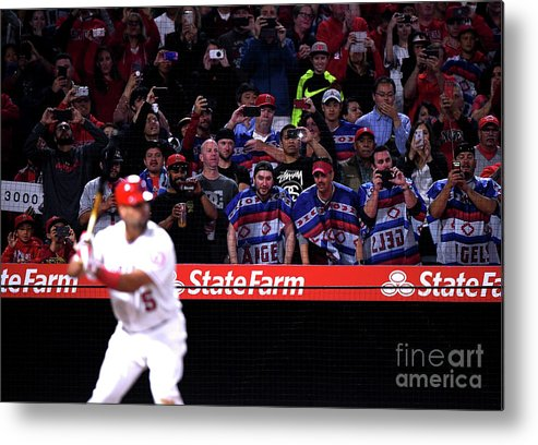 Ninth Inning Metal Print featuring the photograph Albert Pujols by Harry How