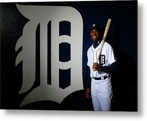 Media Day Metal Print featuring the photograph Austin Jackson by Kevin C. Cox
