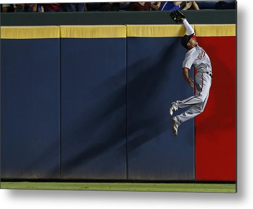 Atlanta Metal Print featuring the photograph Ben Revere And Freddie Freeman by Mike Zarrilli