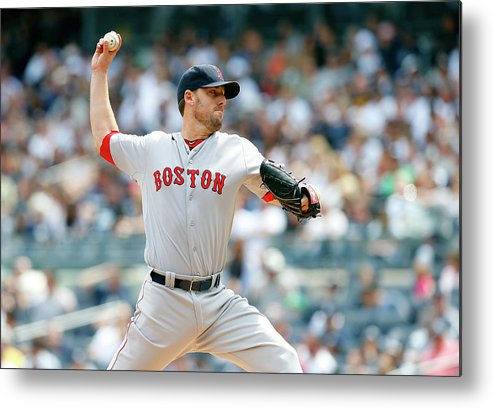 American League Baseball Metal Print featuring the photograph John Lackey by Jim Mcisaac