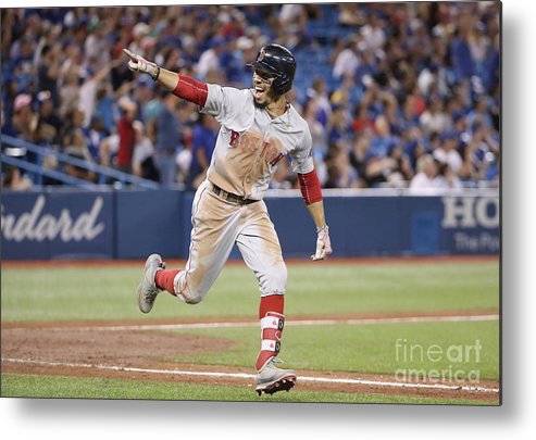 Ninth Inning Metal Print featuring the photograph Mookie Betts by Tom Szczerbowski