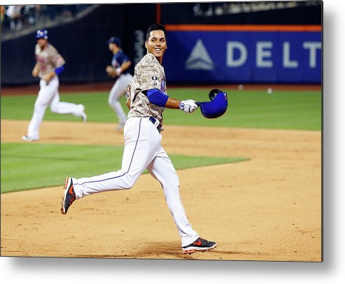 Celebration Metal Print featuring the photograph Ruben Tejada by Jim Mcisaac