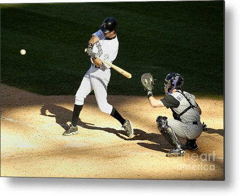 People Metal Print featuring the photograph Todd Helton, Rod Barajas, And John Patterson by Brian Bahr