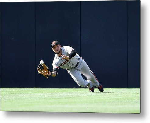 Ball Metal Print featuring the photograph Will Venable And Gregor Blanco by Denis Poroy