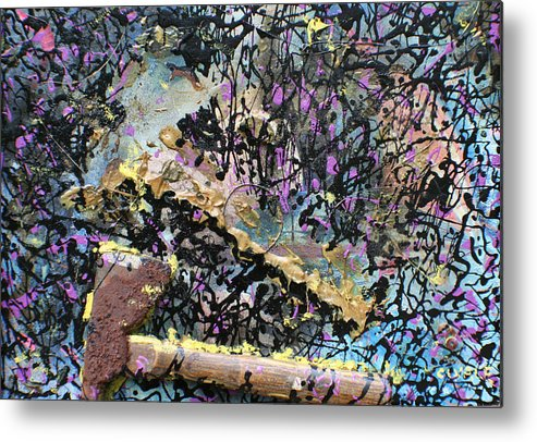 Metal Print featuring the painting Accetta Caduta by Biagio Civale