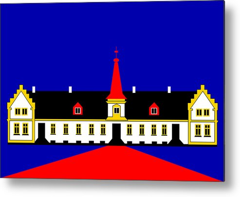 Manor House Metal Print featuring the digital art Agersboel Manor House by Asbjorn Lonvig