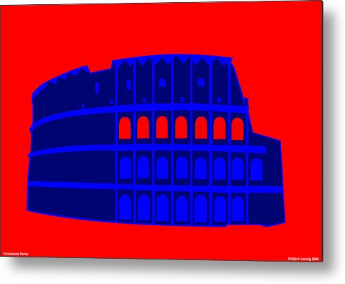Colosseum Metal Print featuring the digital art Colosseum by Asbjorn Lonvig