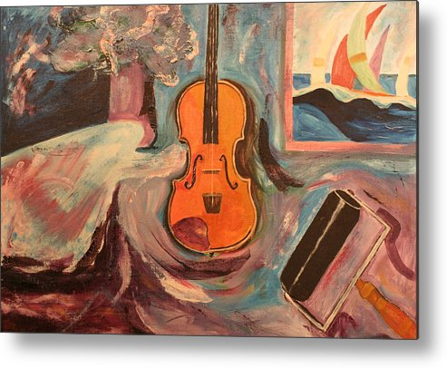 Metal Print featuring the painting Fiddle by Biagio Civale