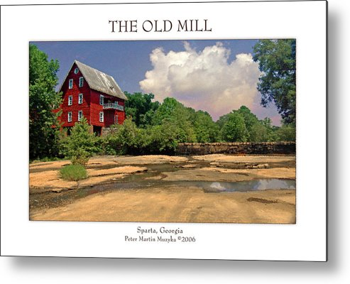Landscape Metal Print featuring the photograph The Old Mill by Peter Muzyka