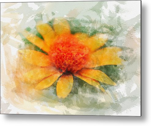 Daisy Metal Print featuring the photograph Woodland Sunflower by Edser Thomas
